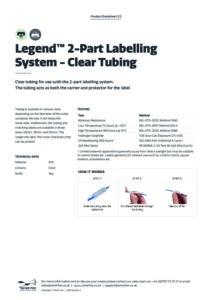 2019 Legend 2-Part Labelling System – Clear Tubingv2