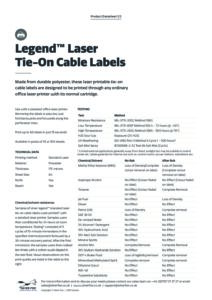 2019 Legend Tie on cable label – Laserv2