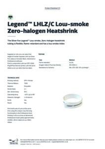 2020 Legend™ LHLZC Low-smoke Zero-halogen Heatshrinkv2