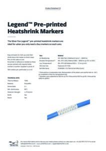 2020 Legend™ Preprinted Heatshrink Markersv1