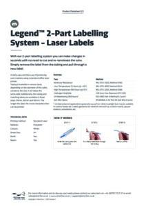2020 Legend 2-Part Labelling System – Laserv1