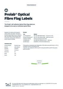 2020 Prolab Optical Fibre Flag Labels – Laserv1