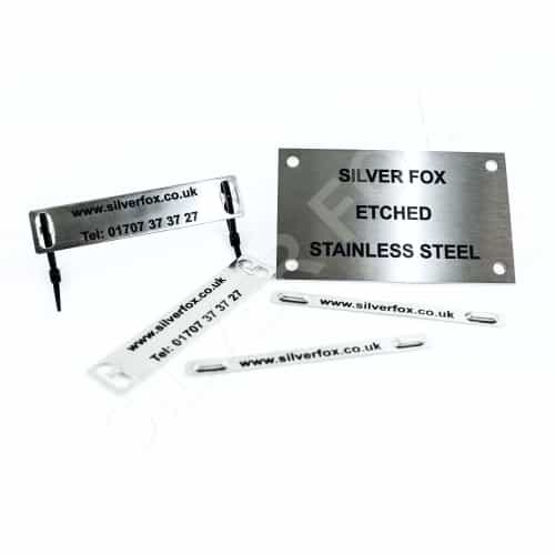 Stainless Steel Etched Labels