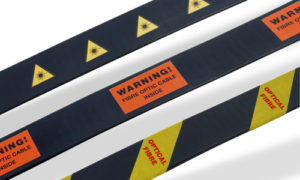 Optical Fibre Warning Labels