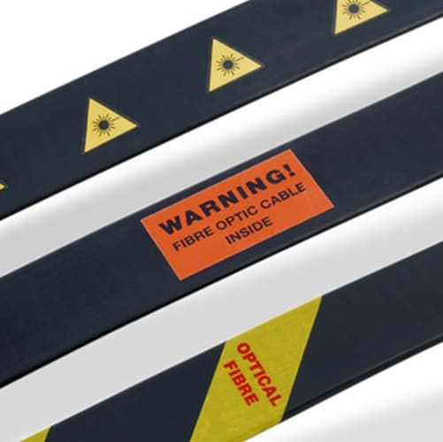 Optical Fibre Warning Labels & Tape