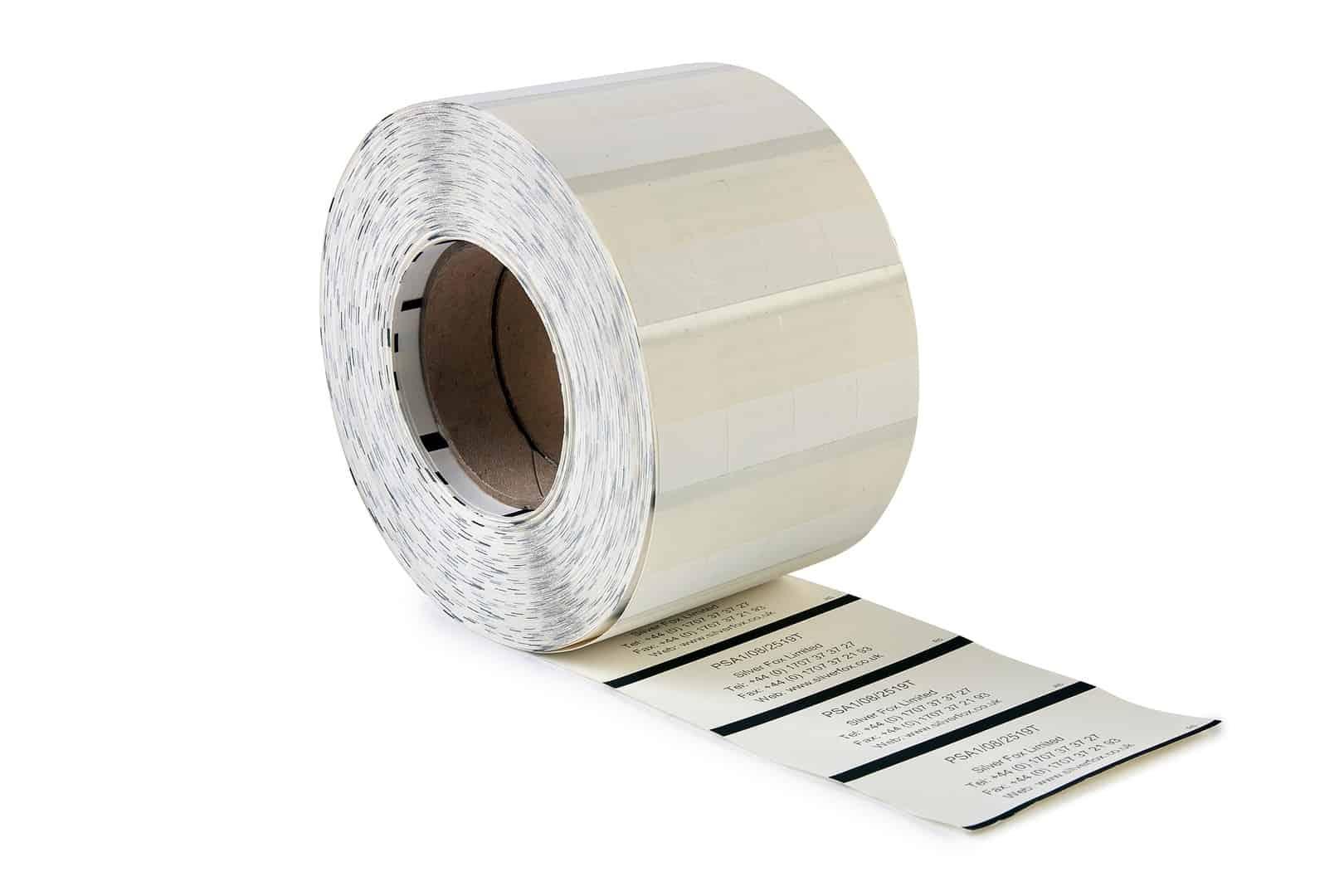 Prolab Thermal Self Laminating Wrap Around Labels Silver Fox